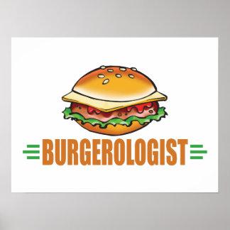 Funny Cheeseburger Poster