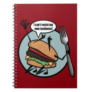 FUNNY CHEESEBURGER SPIRAL NOTEBOOK