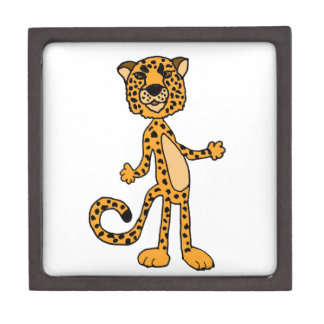 Funny Cheetah Cartoon Animal Gift Box