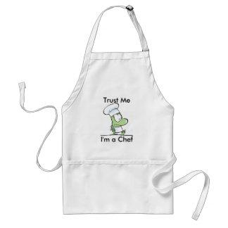 Funny Chef Cartoon Frog Apron