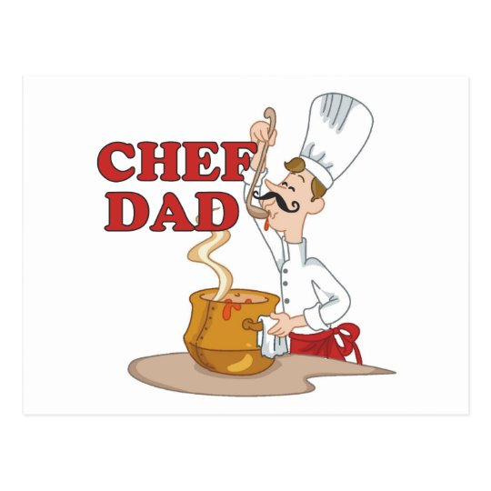 Funny Chef Dad Gifts Postcard