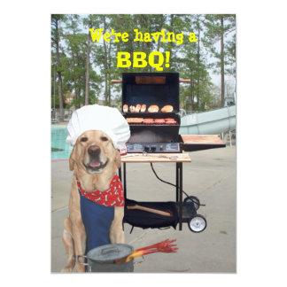 Funny Chef Dog BBQ Invitation