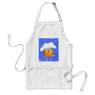 Funny Chef | Funny cartoon Kitty Chef Adult Apron