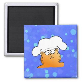 Funny Chef   Funny cartoon Kitty Chef Fridge Magnet