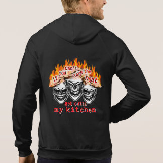 Funny Chef Skulls: If you can't take the heat... Sweatshirts