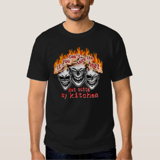 Funny Chef Skulls: If you can't take the heat... Tee Shirt