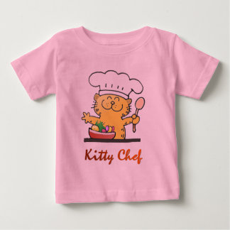 Funny Chef T Shirt   Funny Kitty Chef T