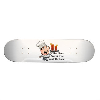 Funny Chef With The Finest Sweet Tea Skateboard Deck