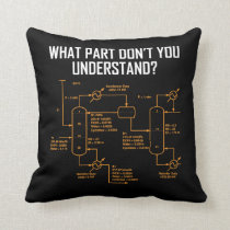 Funny Chemical Engineer - Chemical Engineering Throw Pillow