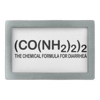 Funny Chemical Formula for Diarrhea Belt Buckle
