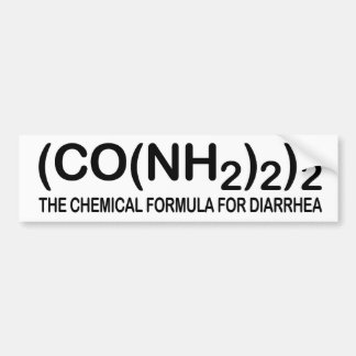 Funny Chemical Formula for Diarrhea Bumper Sticker