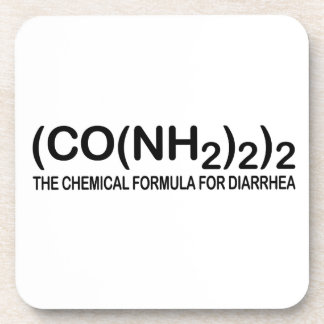 Funny Chemical Formula for Diarrhea Cork Coaster S