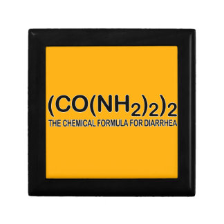 Funny Chemical Formula for Diarrhea Jewelry Box