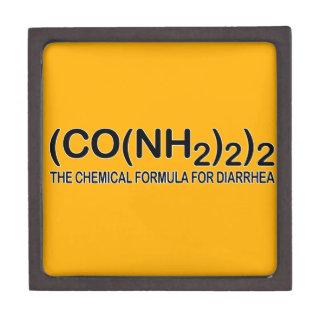 Funny Chemical Formula for Diarrhea Keepsake Box Premium Trinket Box