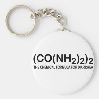 Funny Chemical Formula for Diarrhea Keychain