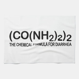 Funny Chemical Formula for Diarrhea Kitchen Towels