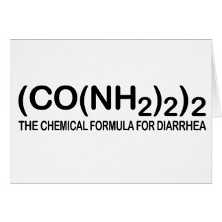 Funny Chemical Formula for Diarrhea Note Card
