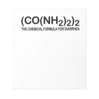 Funny Chemical Formula for Diarrhea Notepad