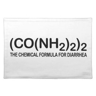 Funny Chemical Formula for Diarrhea Placemats