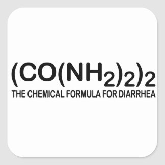 Funny Chemical Formula for Diarrhea Square Sticker