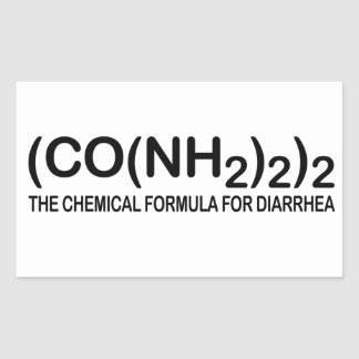 Funny Chemical Formula for Diarrhea Stickers