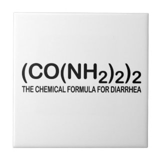 Funny Chemical Formula for Diarrhea Tile