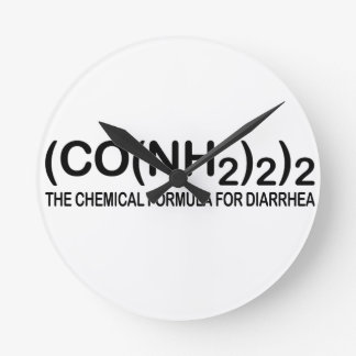Funny Chemical Formula for Diarrhea Wall Clock