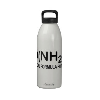 Funny Chemical Formula for Diarrhea Water Bottle