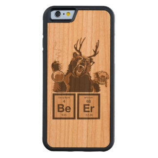 Funny chemistry bear discovered beer carved® cherry iPhone 6 bumper