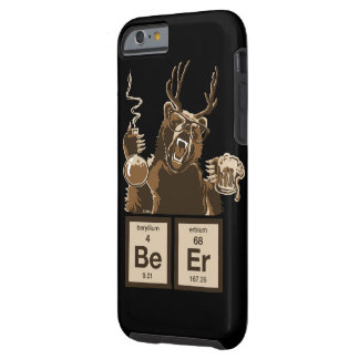 Funny chemistry bear discovered beer tough iPhone 6 case