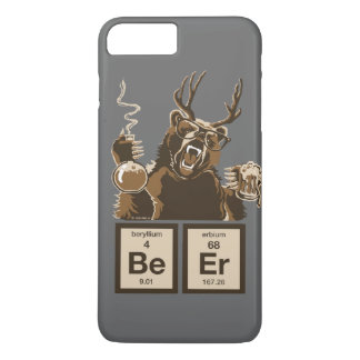 Funny chemistry bear discovered beer iPhone 8 plus/7 plus case