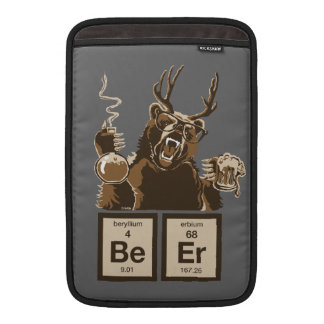 Funny chemistry bear discovered beer sleeve for MacBook air