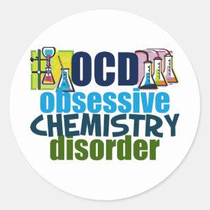 Funny Chemistry Classic Round Sticker