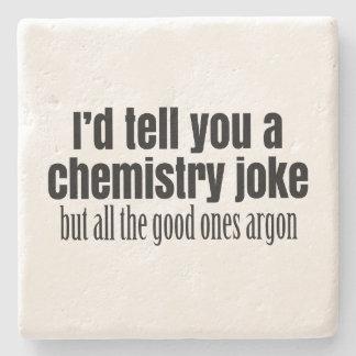 Funny Chemistry Meme for Teachers Students Stone Coaster