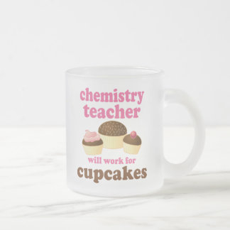 Funny Chemistry Teacher Frosted Glass Coffee Mug