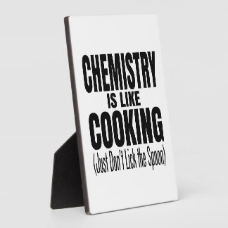 Funny Chemistry Teacher Quote Display Plaques