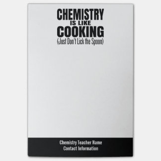 Funny Chemistry Teacher Quote Post-it® Notes