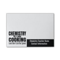 Funny Chemistry Teacher Quote Post-it Notes
