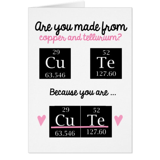 Funny Chemistry Valentines Day Card – Chemistry Valentines Day Card