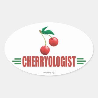 Funny Cherries Oval Sticker