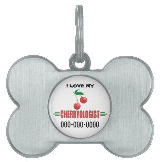 Funny Cherries Pet ID Tag