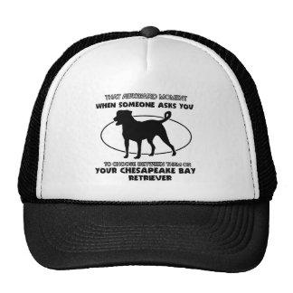 Funny chesapeake bay retriever designs trucker hat