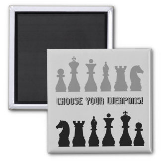 funny chess 2 inch square magnet