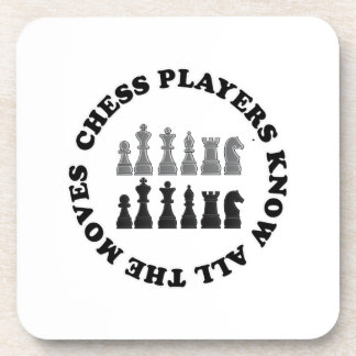 Funny Chess Players Know All the Moves Beverage Coaster