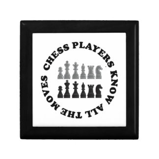 Funny Chess Players Know All the Moves Nerd Humor Trinket Box