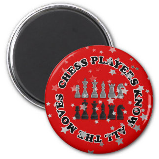 Funny Chess Players Know All the Moves Red Stars Magnets