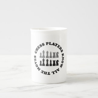Funny Chess Players Know All the Moves Tea Cup