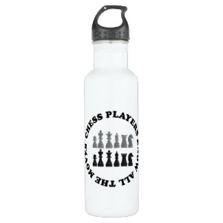 Funny Chess Players Know All the Moves Water Bottle
