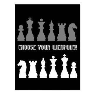 funny chess postcard