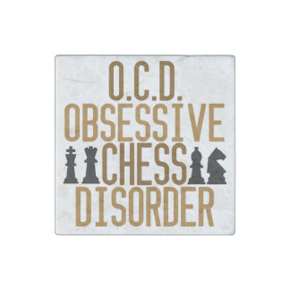 Funny Chess Stone Magnet